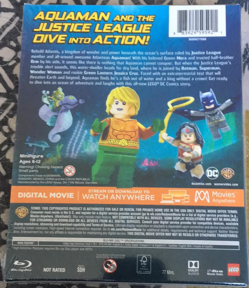 LEGO DC Aquaman Rage of Atlantis Blu-ray Review