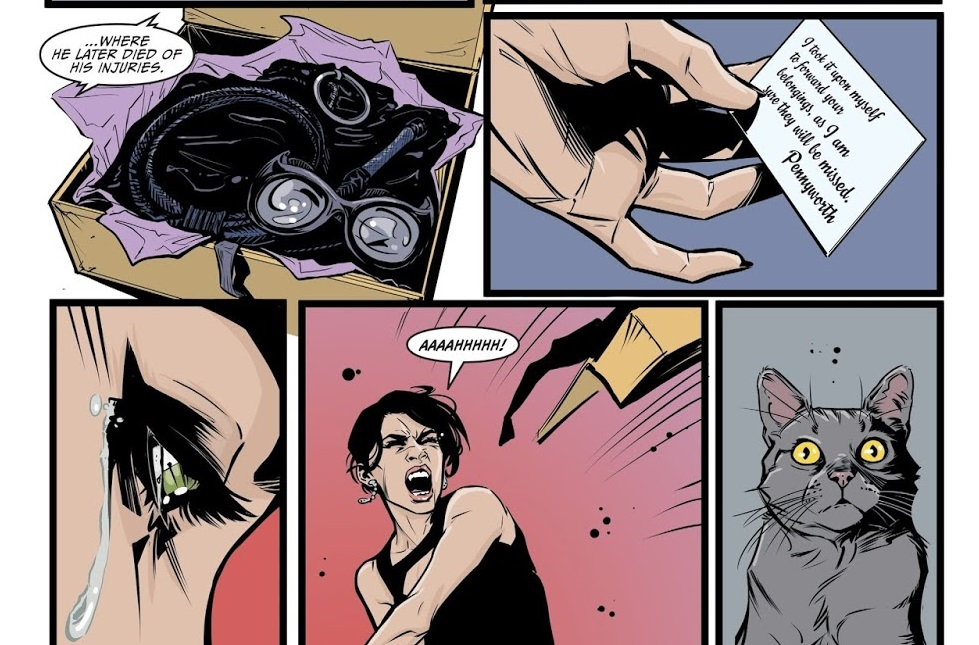 Selina Catwoman Issue 1 Alfred note