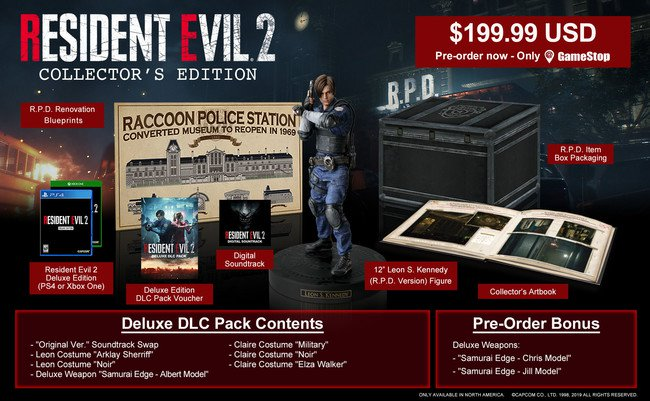 Resident Evil 2 Remake Collector's Edition Capcom