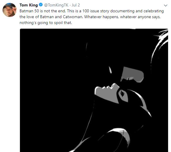 Tom King Tweet Batman Issue 50 Catwoman