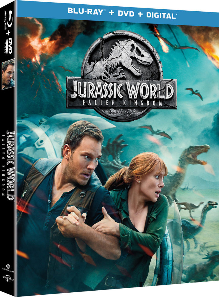 Jurassic World 2 Fallen Kingdom blu-ray dvd digital 4k release
