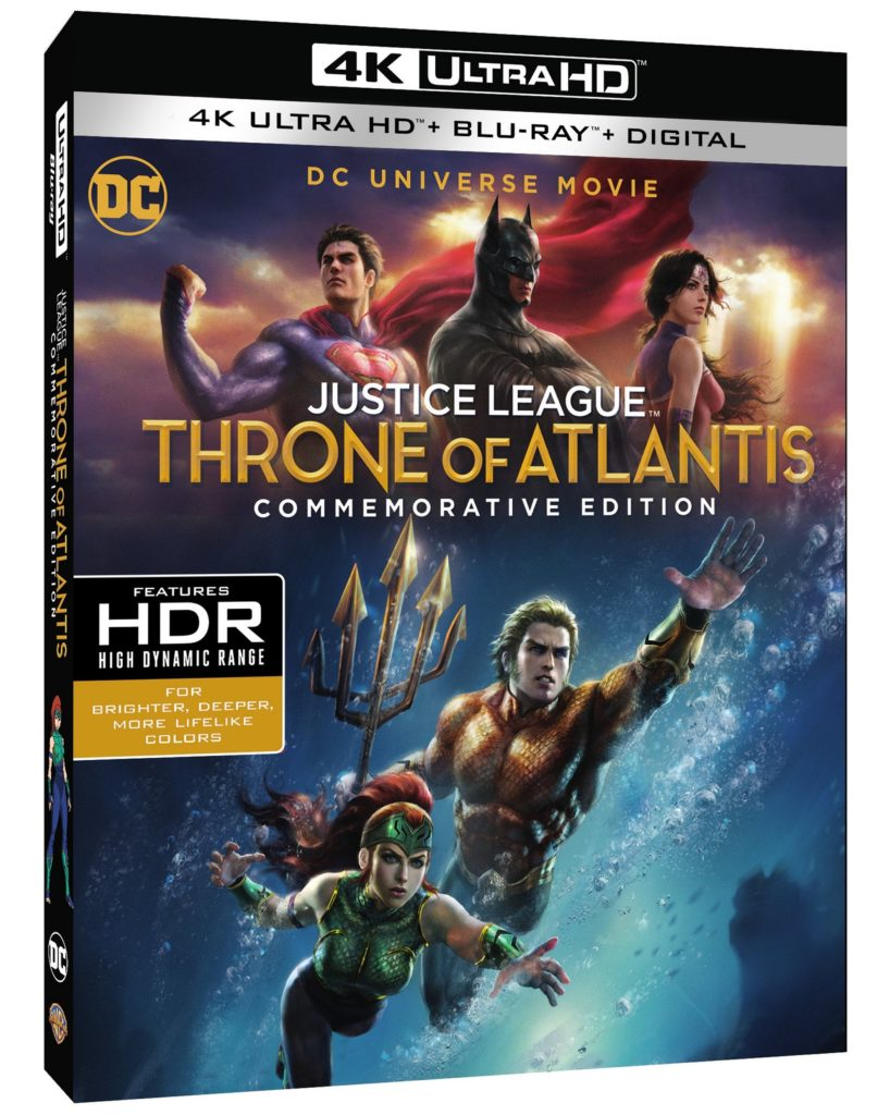 Justice League Throne of Atlantis 4K Blu-ray release
