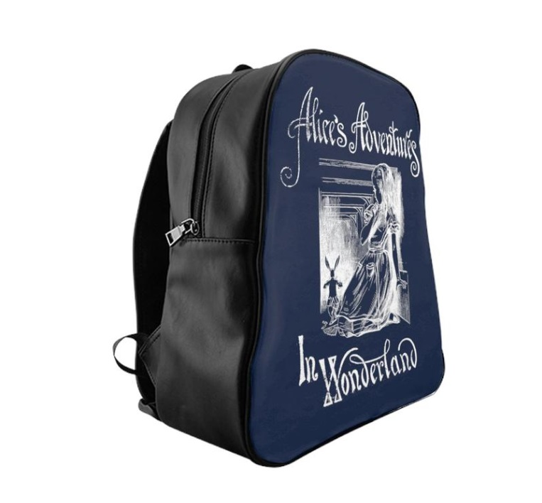 Alice in Wonderland Backpack Literary Book Gifts