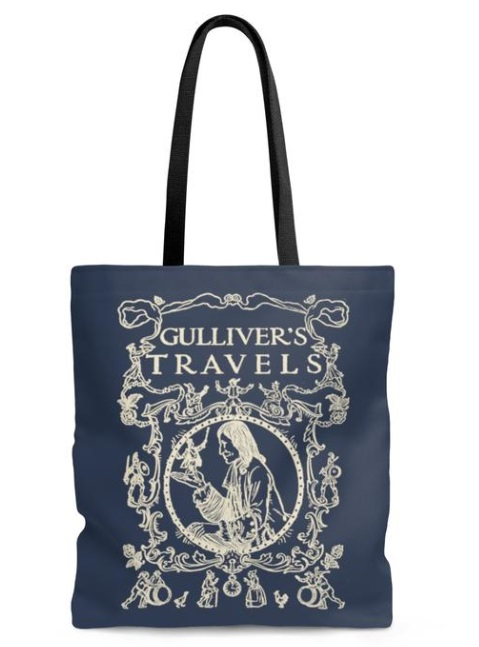 Gulliver's Travels Tote Bag Literary Book Gifts