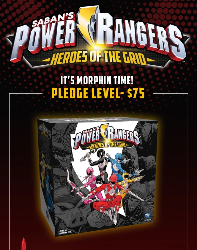 Power Rangers Heroes of the Grid Board Game Power Rangers Board Game