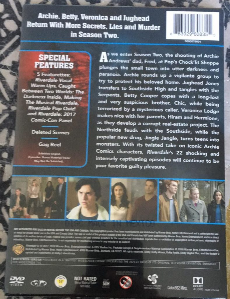 Riverdale Season 2 DVD Warner Bros release