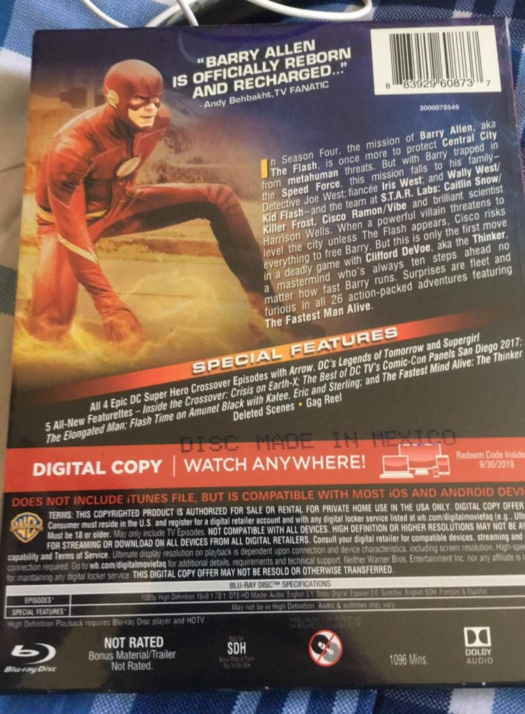 The Flash season 4 Blu-ray review DVD