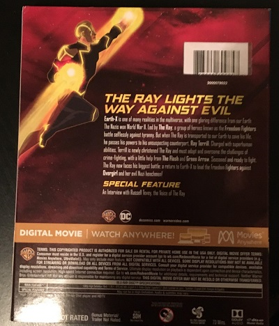 Freedom Fighters The Ray Blu-ray Combo Pack review DVD