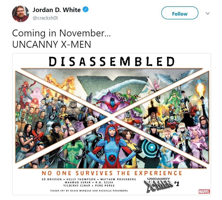 Uncanny X-Men Disassembled 2018 Comics Marvel