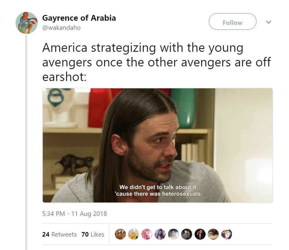 Young Avengers Queer Eye Tweet Marvel Comics