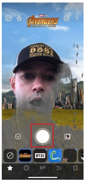 Avengers Infinity War custom Facebook AR Mask