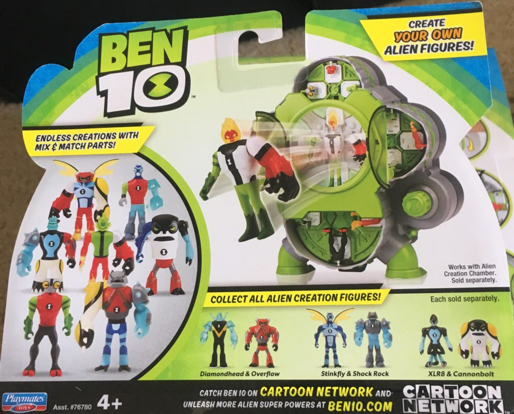 Ben 10 Alien Creation Chamber Playmates Toys 2 pack review