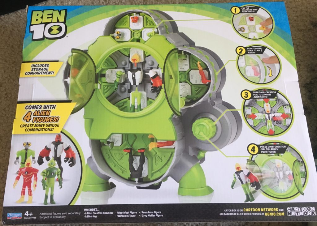 Ben 10 Alien Creation Chamber Playmates Toys review