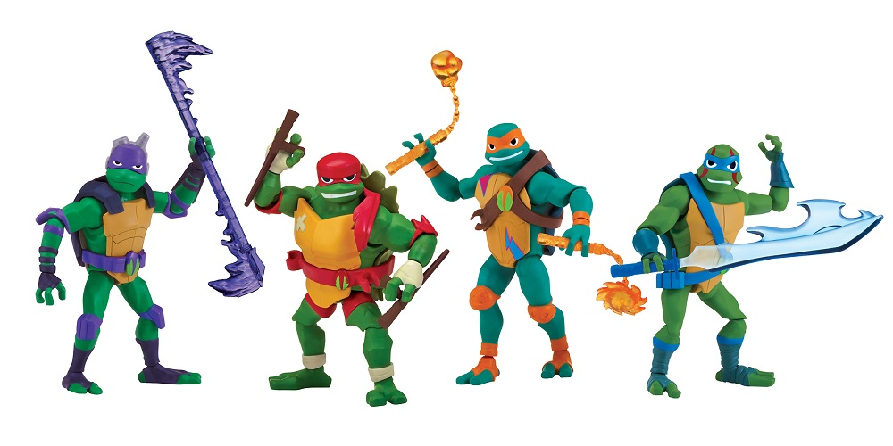 Rise of the TMNT toy line basic figures playmates toys