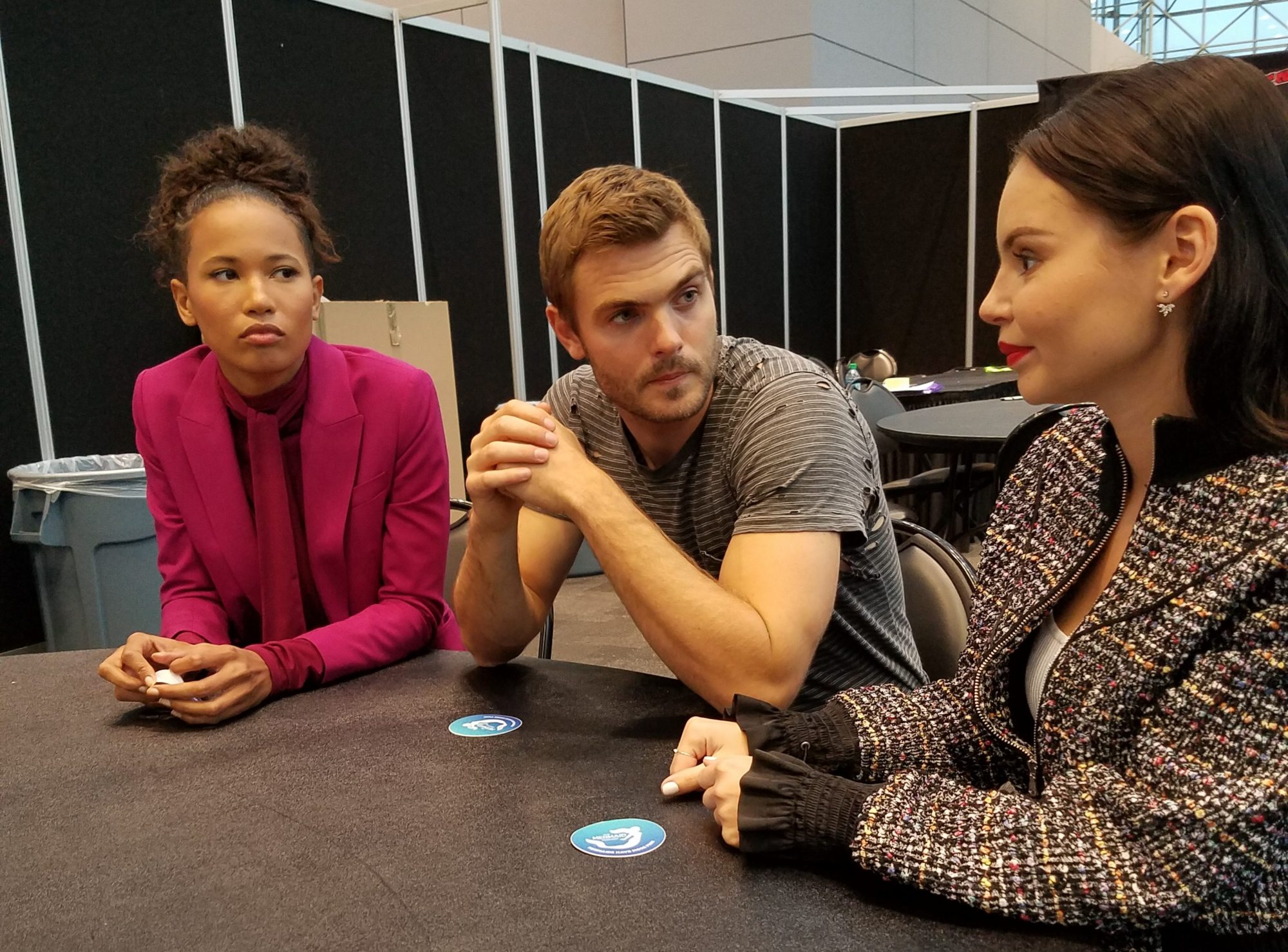 Cast of Siren at NYCC 2018