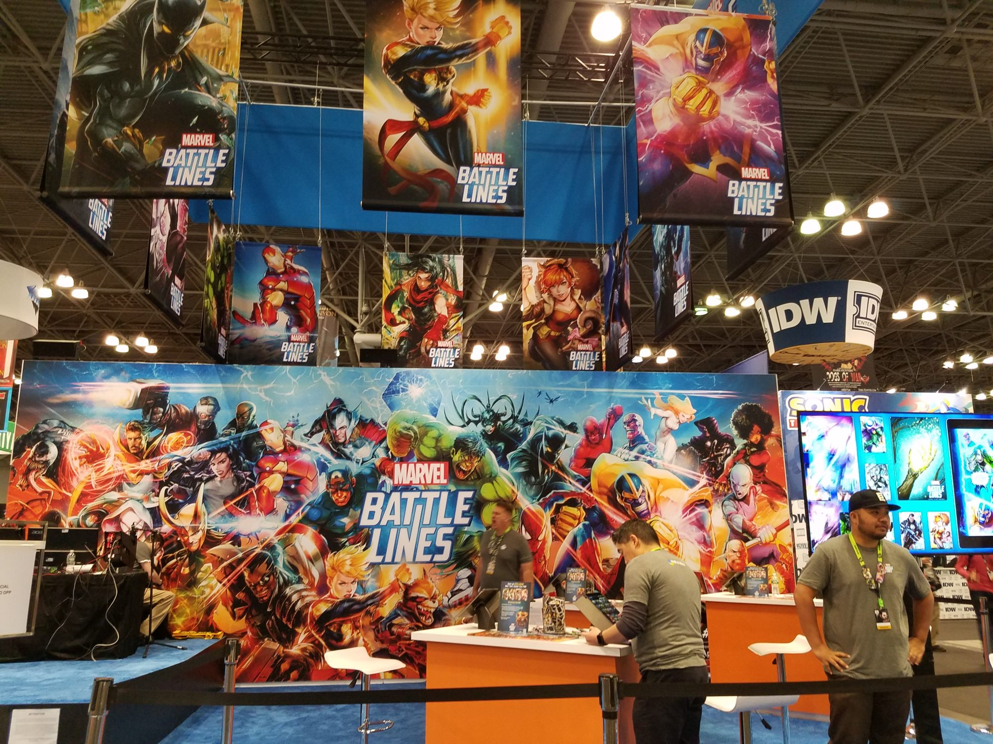 Marvel Battle Lines booth