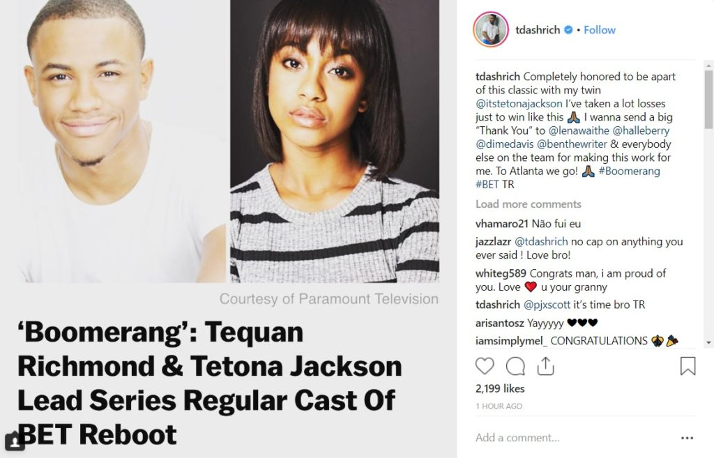 Boomerang TV Series BET Cast Main queer character