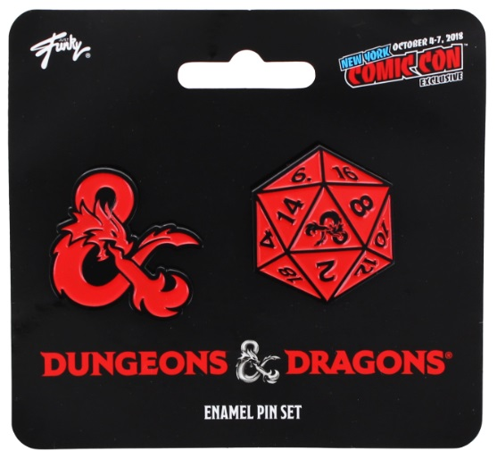 Dungeons & Dragons Ampersand and 20 Sided Die Pin NYCC 2018 Exclusive