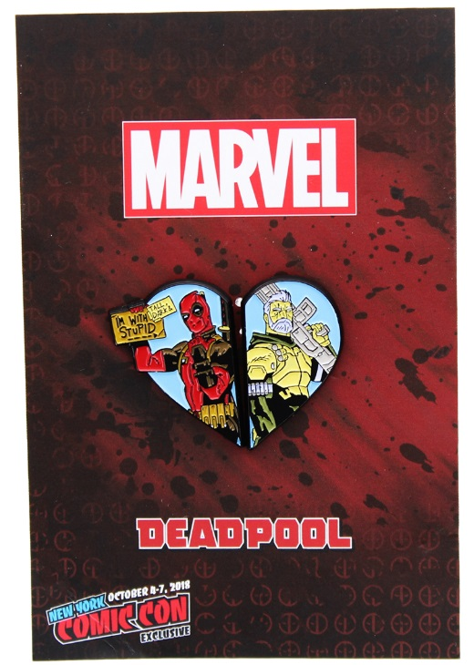Deadpool And Cable Marvel Comics Heart Pin NYCC 2018 Exclusive