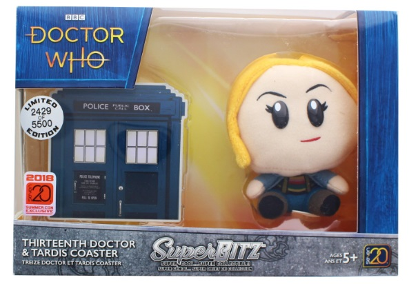 Doctor Who Super Bitz 13th Doctor Plush with Tardis Medallion 2018 Summer Convention Exclusive
