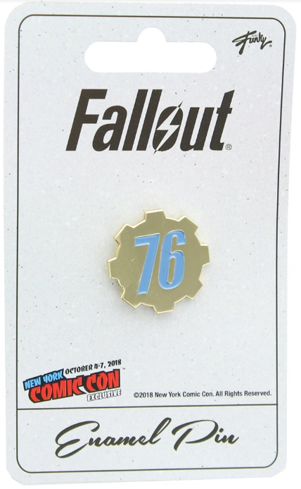 Fallout 76 Enamel Pin NYCC 2018 Exclusive