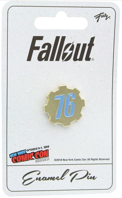Fallout 76 Enamel Pin NYCC 2018 Exclusive
