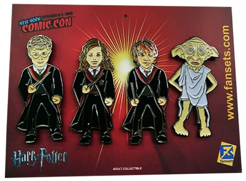 Harry Potter 4 Pack-Pin Set: Harry, Ron, Hermione, Dobby