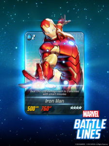 Marvel Battle Lines Iron Man card