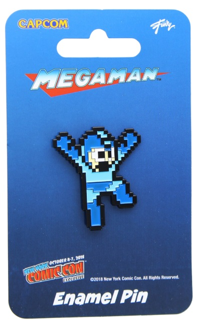 "Mega Man Capcom Enamel Pin"" NYCC 2018 Exclusive"