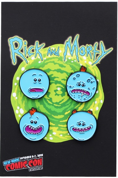Rick And Morty - Meeseeks 4 Pack Enamel Pin NYCC 2018 Exclusive