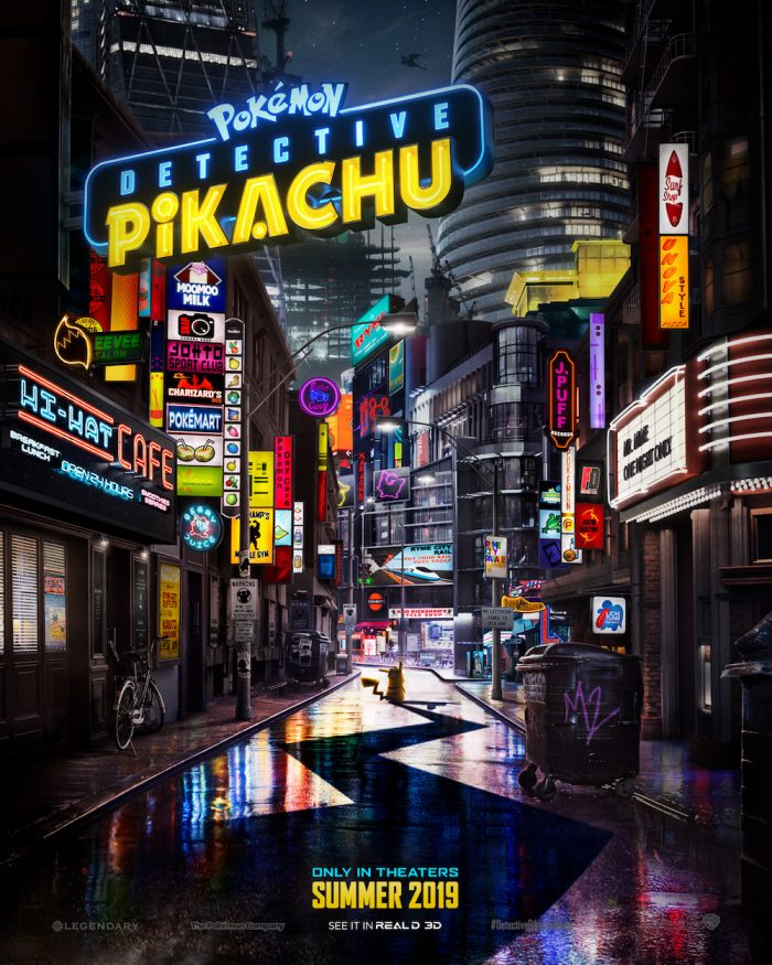 Detective Pikachu Pokemon film poster