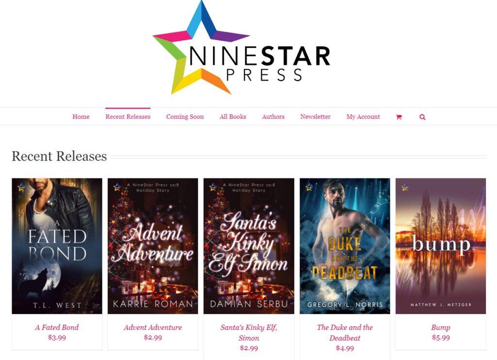 NineStar Press November 5 2018 books A Fated Bond