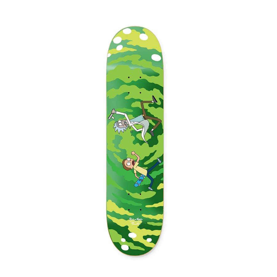 Rick and Morty skateboard deck
