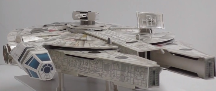 Star Wars Build Your Own Millennium Falcon model