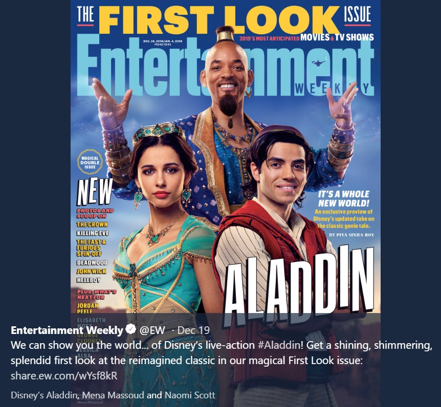 Aladdin Disney First Look Genie Jasmine