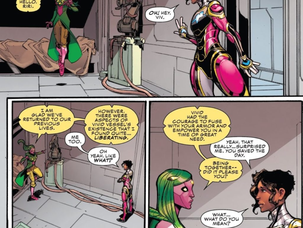 Champions Issue 27 Viv kiss Riri