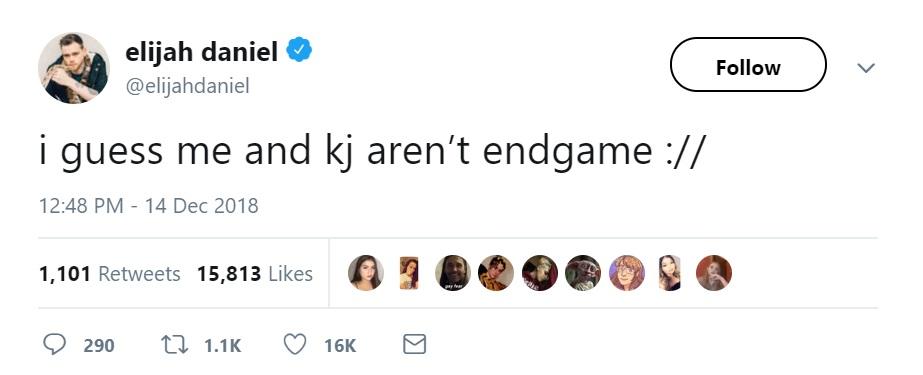 Elijah Daniel Riverdale KJ Apa Tweet