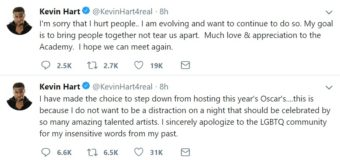 Kevin Hart Steps Down From Hosting 2019 Oscars, Issues An Apology To The LGBTQ+ Community!
