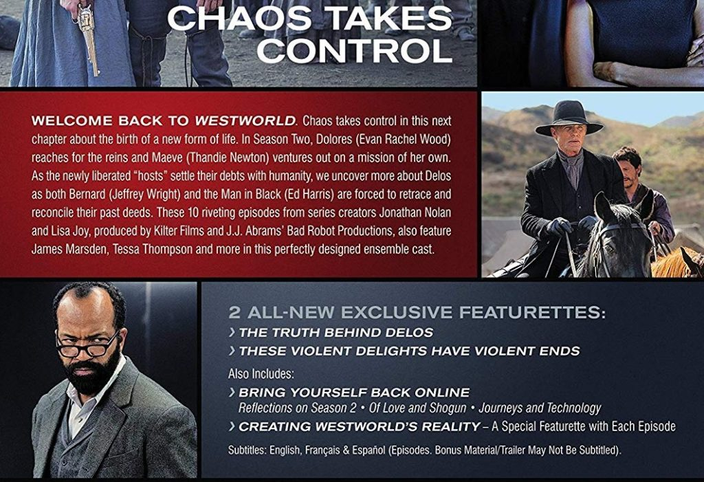 Westworld Season 2 The Door 4k Bluray DVD review