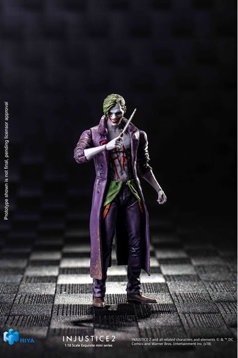 previews exclusive the joker Injustice 2 figure