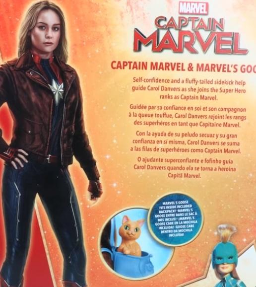captain marvel hasbro goose doll hasbro