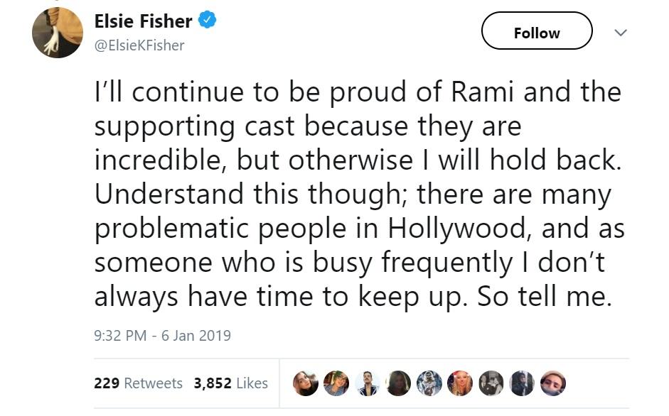 Elsie Fisher tweet Bohemian Rhapsody