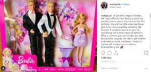 Mattel Barbie queer wedding playset