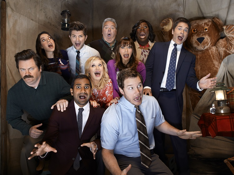 Parks and Recreation group pic from PaleyFest 2014