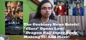 """Geekiary News Briefs! """"Glass"""" Opens Low, Fantastic Beasts 3 Delayed, and More!"""