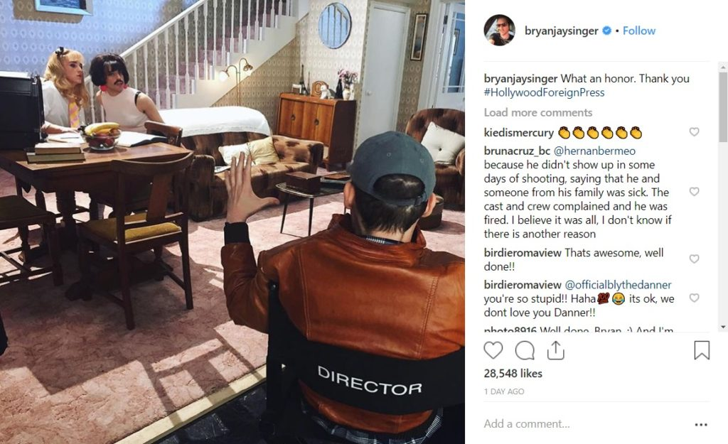 bryan singer bohemian rhapsody instagram