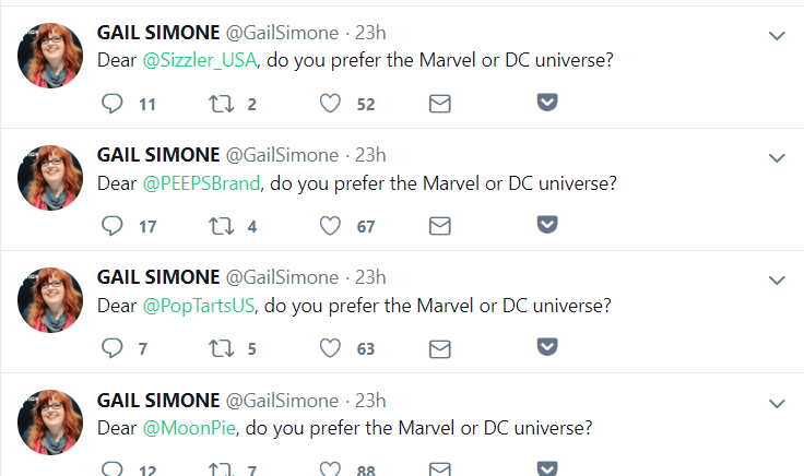Gail Simone marvel or dc