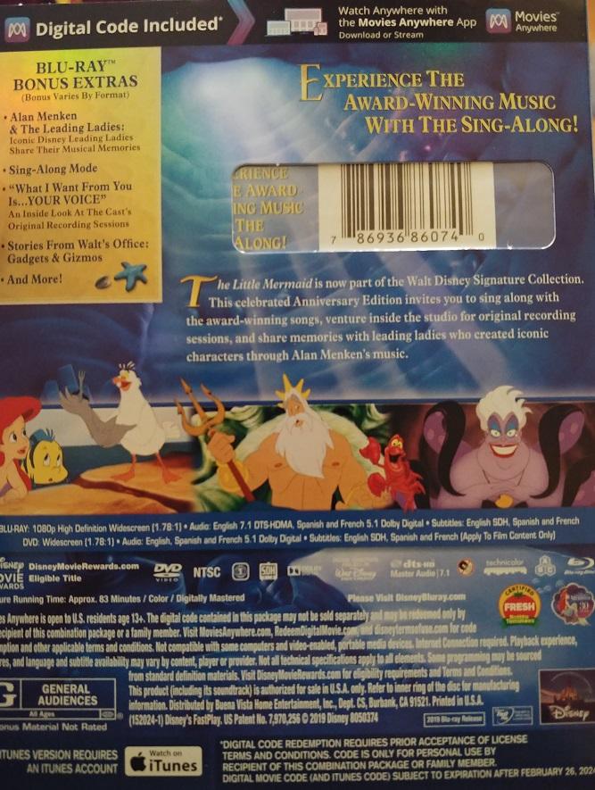 little mermaid 4k blu-ray review
