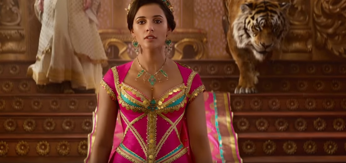 aladdin special look backlash  naomi scott is not jasmine