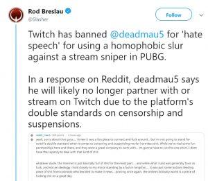 Joel Zimmerman Deadmau5 Twitch apology